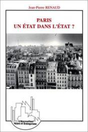 Paris Un Etat Dans L'Etat - Couverture - Format classique
