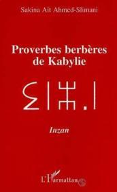 Proverbes berbères de Kabylie - Couverture - Format classique