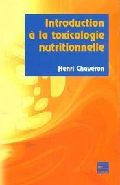 Introduction A La Toxicologie Nutritionnelle - Intérieur - Format classique