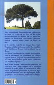 Arbres et arbustes de méditerranée - 4ème de couverture - Format classique