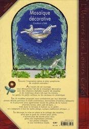 Mosaïque décorative ; couleurs de Provence - 4ème de couverture - Format classique