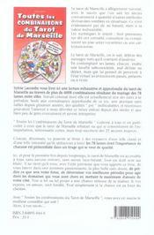 Toutes Les Combinaisons Du Tarot De Marseille - 4ème de couverture - Format classique
