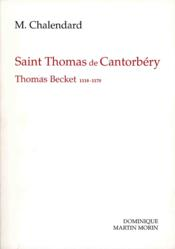 Saint thomas de cantorbery - Couverture - Format classique