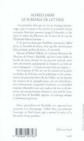 Alfred jarry le surmâle de lettres - 4ème de couverture - Format classique