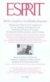 Revue Esprit N.322 ; Doutes Européens, Incertitudes Françaises - Intérieur - Format classique