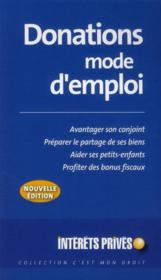 Vente  Donations mode d'emploi (édition 2010)  - Collectif Rf