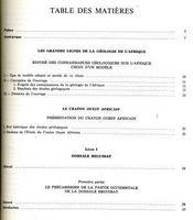 Géologie de l'Afrique - Intérieur - Format classique