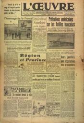 Oeuvre (L') N°9642 du 11/05/1942 - Couverture - Format classique
