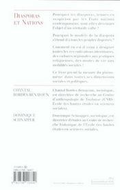 Diasporas Et Nations - 4ème de couverture - Format classique