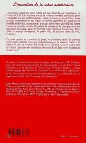 L'Invention De La Scene Americaine : Cinema Et Paysage - 4ème de couverture - Format classique