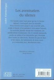 Les aventuriers du silence - 4ème de couverture - Format classique