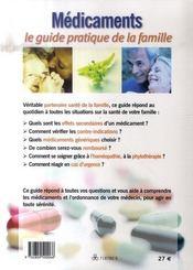 Médicaments, le guide pratique (édition 2008) - 4ème de couverture - Format classique