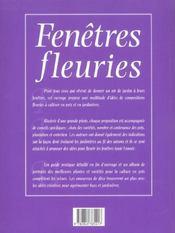 Fenetres Fleuries - 4ème de couverture - Format classique
