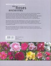 Nouvelle Encyclopedie Des Roses Anciennes - 4ème de couverture - Format classique