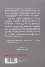 Critique De L'Ethnocentrisme ; Du Missionnaire Anthropophage A L'Anthropologue Post-Developpementiste - 4ème de couverture - Format classique
