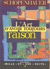 L'Art D'Avoir Toujours Raison - Intérieur - Format classique