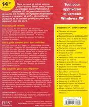 Le Livre De Windows Xp - 4ème de couverture - Format classique
