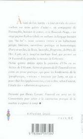 Gestes et opinions du docteur Faustroll, pataphysicien ; commentaire pour servir à la construction pratique de la machine à explorer le temps - 4ème de couverture - Format classique