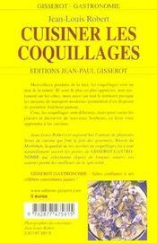 Cuisiner Les Coquillages - 4ème de couverture - Format classique