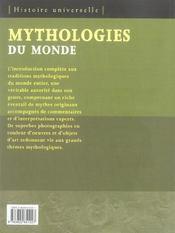 Mythologies du monde - 4ème de couverture - Format classique