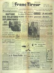 Franc Tireur N°2556 du 17/10/1952 - Couverture - Format classique