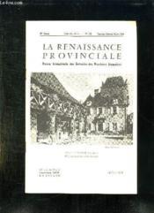 La Renaissance Provinciale N° 153 Janvier Fevrier Mars 1966. Place De Domme... - Couverture - Format classique