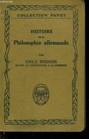 Histoire De La Philosophie Allemande - Couverture - Format classique