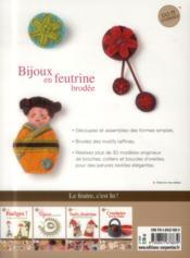 Bijoux en feutrine brodée - 4ème de couverture - Format classique