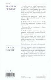 Traite Du Cerveau - 4ème de couverture - Format classique