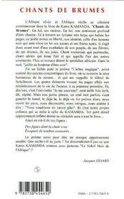 Chants De Brumes - 4ème de couverture - Format classique