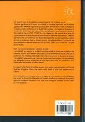 Etude de l'impact radiologique sur le public des installations nucleaires en fonctionnement normal - 4ème de couverture - Format classique