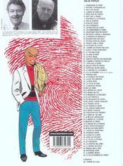 Ric Hochet T.58 ; le collectionneur de crimes - 4ème de couverture - Format classique