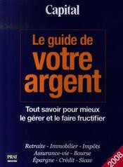 Guide de votre argent (édition 2008) - Intérieur - Format classique