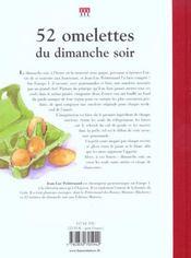 52 Omelettes Du Dimanche Soir - 4ème de couverture - Format classique