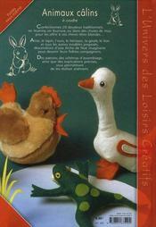 Animaux câlins à coudre - 4ème de couverture - Format classique