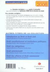 Annadroit 2006. droit penal et procedure penale (édition 2006) - 4ème de couverture - Format classique