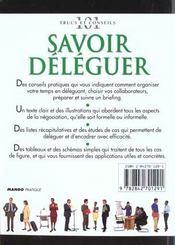 Savoir Deleguer - 4ème de couverture - Format classique