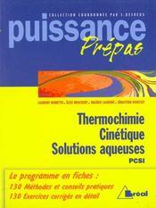Termochimie cinetique - Intérieur - Format classique