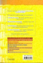 500 Questions Pour Reussir L Entree En Ifsi Tome 7 Annales - 4ème de couverture - Format classique