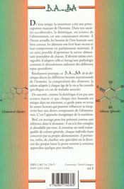 Dietétique - 4ème de couverture - Format classique