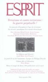 Terrorisme et contre-terrorisme : la guerre perpétuelle ? - Couverture - Format classique