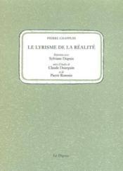 Lyrisme de la realite (le) - Couverture - Format classique