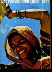 Une Parole Pour Tous - 1971 - Couverture - Format classique