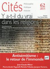 Revue Cites T.62 ; Les Religions Et La Vérité - Couverture - Format classique