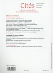 Revue Cites T.62 ; Les Religions Et La Vérité - 4ème de couverture - Format classique