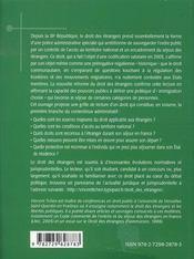 Droit des etrangers - 4ème de couverture - Format classique