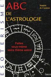 Abc De L'Astrologie - Intérieur - Format classique