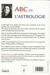 Abc De L'Astrologie - 4ème de couverture - Format classique