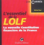 Essentiel Nouvelle Constitution Financiere (L') - Intérieur - Format classique