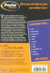 Poche Micro Linux Mandrake Linux 10.1 - 4ème de couverture - Format classique